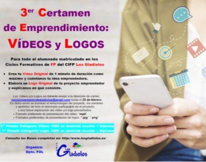 Tercer Certamen de Emprendimiento: Videos y Logos
