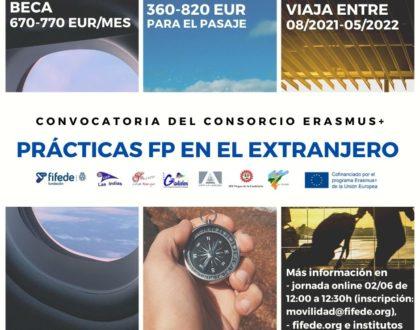 Apertura de convocatoria Erasmus+-FIFEDE para titulados durante el curso 2021/2022